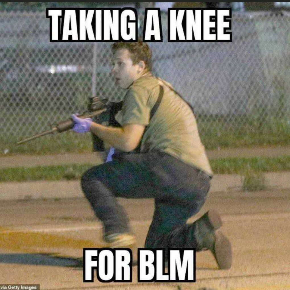 taking a knee for BLM