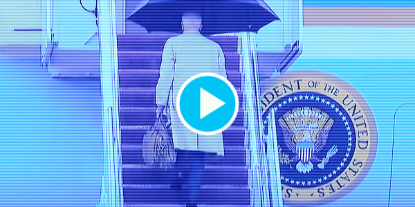 Joe Biden Almost Slips Going up Steps to Air Force One…