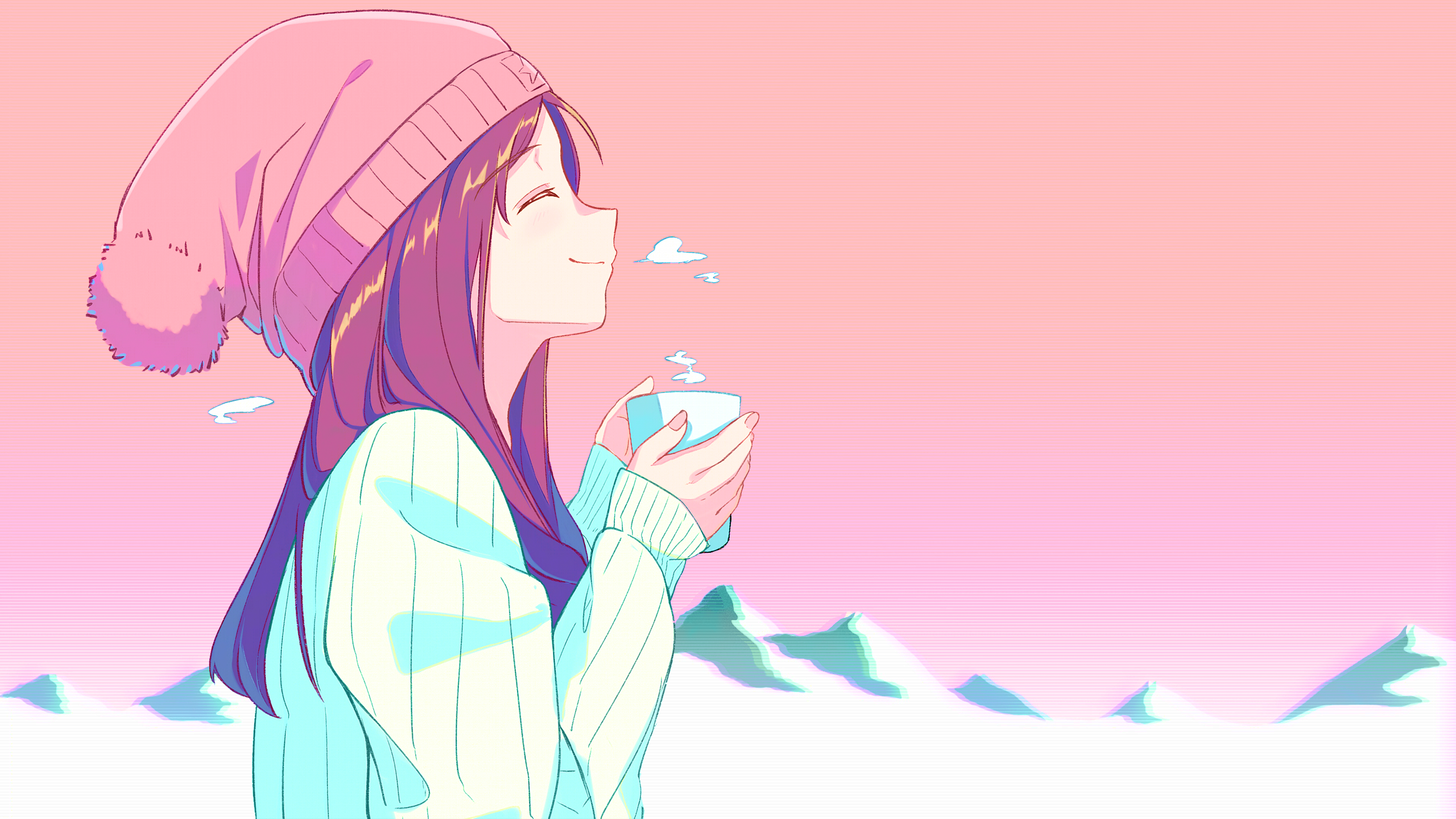 Tea Girl [Original](2560x1440) : Animewallpaper