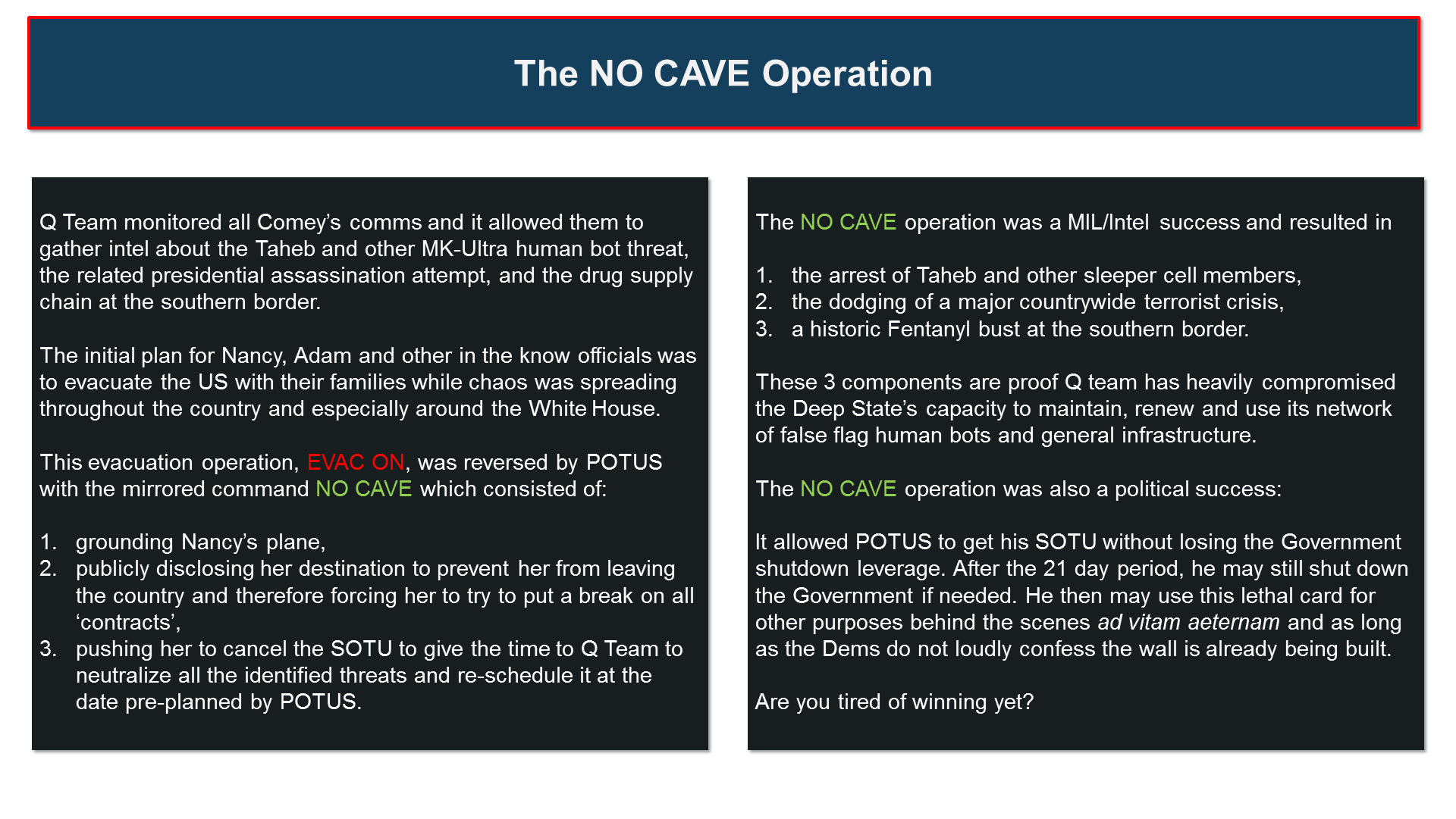 The NO CAVE Strategy: How Trump played Nancy, Chuck and the