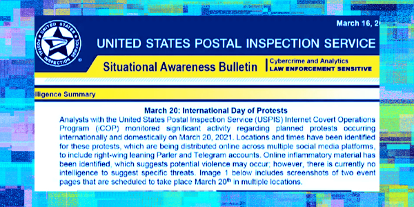 US Postal Service Running 'Covert Operations Program' To Spy On Americans' Social Media Posts, Share With Agencies…